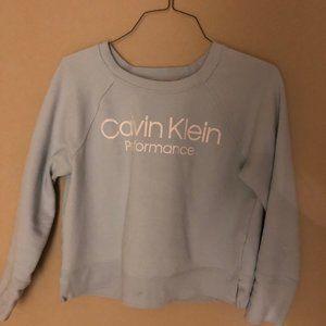 Light Blue Calvin Klein Cropped Sweatshirt